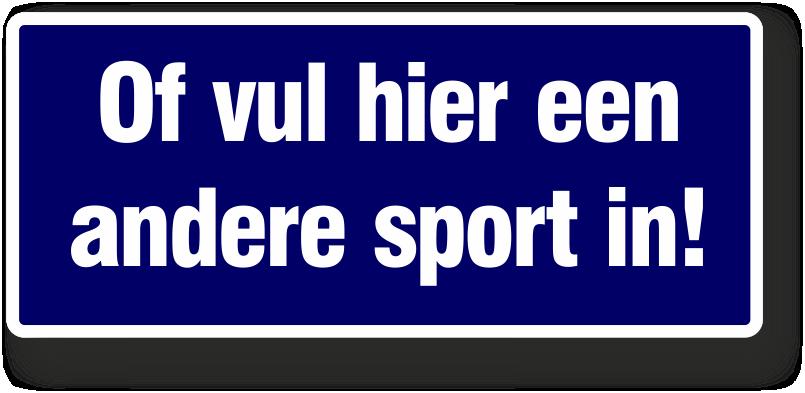eigen sport keuze